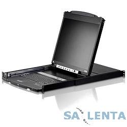 ATEN CL5808N-AT(A)-RG Переключатель, электр., KVM, 2 user консоль LCD 19″ => 8 cpu PS2/USB+VGA, с KVM-шнурами USB/PS2 2х1.8м., 1280×1024, 1U 19″, исп.спец.шнуры, OSD, каскад 256, лат./рус.клав.,(2 доп