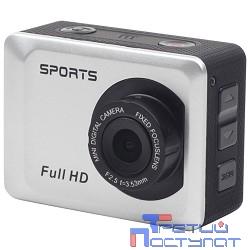 Экшн-камера Gembird ACAM-002 {5MP, 1920 x 1080 FHD (30 fps), ЖК дисплей 2.0', TF/Micro SDHC, USB 2.0, подводный бокс + крепления}