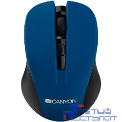 CANYON CNE-CMSW1BL Blue USB {wireless mouse with 3 buttons, DPI changeable 800/1000/1200}