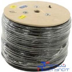 5bites US5505-305CE-M Кабель  UTP / SOLID / 5E / 24AWG / COPPER / PVC+PE / BLACK / OUTDOOR / MESSENGER / DRUM / 305M
