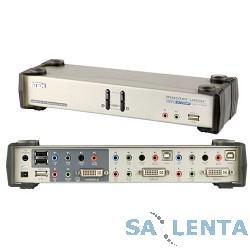 ATEN CS1782A-AT-G Переключатель, электрон., KVM+Audio+USB 2.0, 1 user USB+DVI => 2 cpu USB+DVI, со шнурами USB 2х1.8м., 2560×1600 60Hz DVI-D Dual Link/2048×1536 DVI-A, настол., исп.стандарт.шнуры, бе