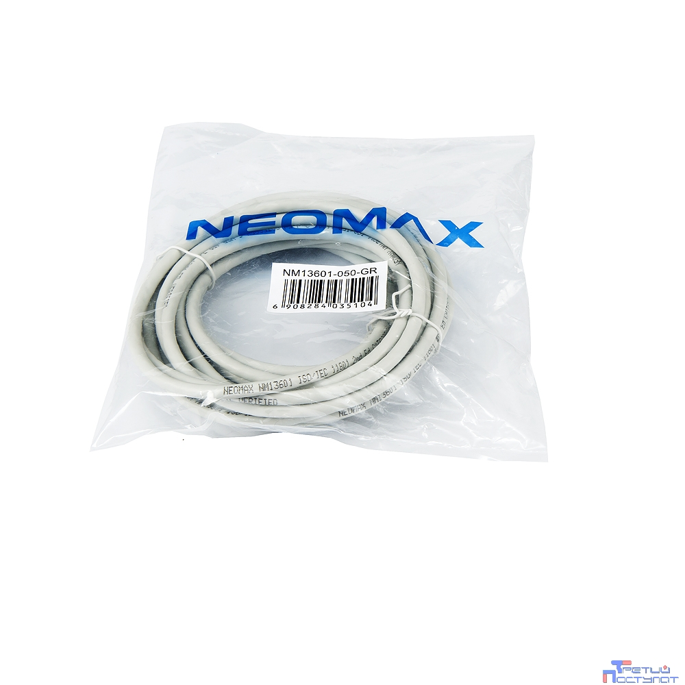 NEOMAX (NM13601-050) Шнур коммут. UTP 5м., гибкий, Категория 6