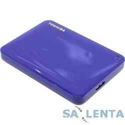 Toshiba Portable HDD 500Gb Stor.e Canvio Connect II HDTC805EL3AA {USB3.0, 2.5″, голубой}