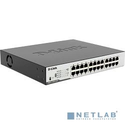D-Link DGS-1100-24P/B1A/B2A Настраиваемый коммутатор EasySmart с 24 портами 10/100/1000Base-T (12 портов с поддержкой PoE 802.3af/802.3at (30 Вт), PoE-бюджет 100 Вт)