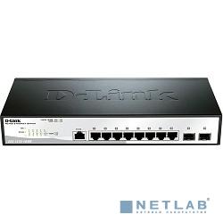 D-Link DGS-1210-10/ME/A1A Коммутатор 2 уровня с 8 портами 10/100/1000Base-T и 2 портами 1000Base-X SFP