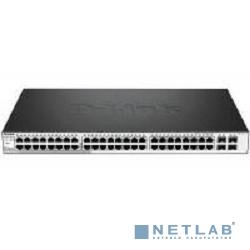 D-Link DGS-1210-52MP/C1A/F1A PROJ Настраиваемый коммутатор Web Smart с 48 портами 10/100/1000Base-T с поддержкой РоЕ и 4 портами 1000Base-X SFP