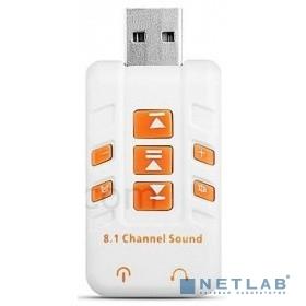 ORIENT AU-01PL (W)  USB адаптер для микрофона и наушников комбинированная расцветка (Белый)