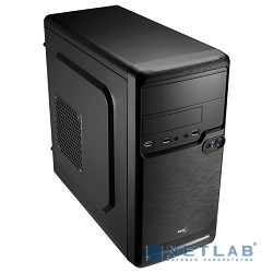 Mini Tower AeroCool Qs-182, Black 450W, mATX, съемный фильтр от пыли для БП [54982/50553]