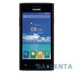 Philips S309 Black {черный моноблок 3G 2Sim 4″ 480×800 Android 4.4 5Mpix WiFi BT GPS GSM900/1800 GSM1900 TouchSc MP3 FM A-GPS microSDHC max32G}