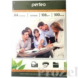 Perfeo PF-MTA4-108/500  Бумага Perfeo матовая , А4 108 г/м2, 500 л