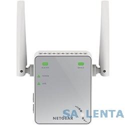 NETGEAR EX2700-100PES Универсальный повторитель беспроводного сигнала 802.11b/g/n 300 Мбит/с, 1 LAN 10/100 -порт, внешние антенны