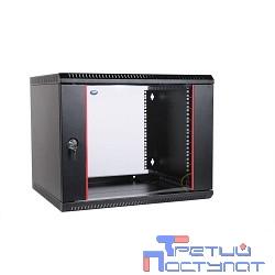 ЦМО! Шкаф телеком. настенный разборный 9U (600х520) дверь стекло, цвет черный (ШРН-Э-9.500-9005)