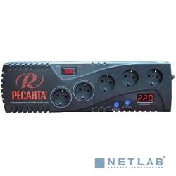 Ресанта С-1500 63/6/33 (16687) Стабилизатор {5 розеток -(3/2), 1000 Вт, 220В±8% + защита RJ11, Вес 3,8 кг}