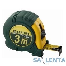 Рулетка KRAFTOOL «EXPERT» с нейлоновым покрытием, обрезин корпус, 3/19мм [34122-03-19_z01]