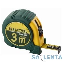 Рулетка KRAFTOOL «EXPERT» с нейлоновым покрытием, обрезин корпус, 3/13мм [34122-03_z01]