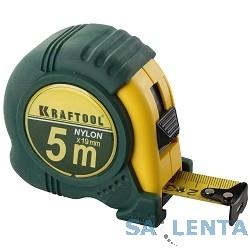 Рулетка KRAFTOOL «EXPERT» с нейлоновым покрытием, обрезин корпус, 5/25мм [34122-05-25_z01]
