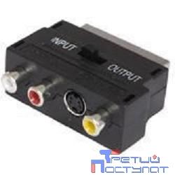Адаптер Buro BSP005 Scart(m) In/Out-S-video(f)+3xRCA(f) черный