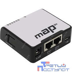 MikroTik mAP 2n RBmAP2nD mAP-2n Беспроводной маршрутизатор WiFi + 2 порта LAN 100Мбит/сек