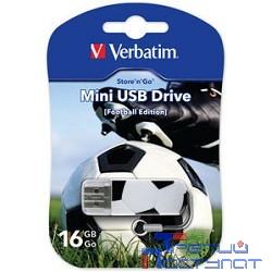 Verbatim USB Drive 16Gb Mini Graffiti Edition Football 049879 {USB2.0}