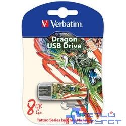 Verbatim USB Drive 8Gb Mini Tattoo Edition Dragon 049884 {USB2.0}