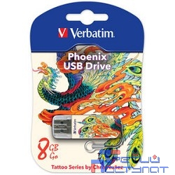 Verbatim USB Drive 8Gb Mini Tattoo Edition Phoenix 049883 {USB2.0}