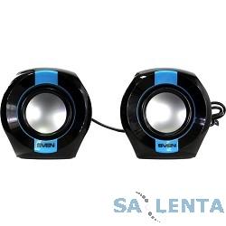 AC SVEN 150, чёрный-синий (5 Вт, питание USB)
