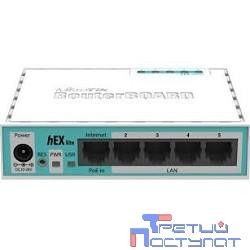 MikroTik RB750r2 hEX lite Маршрутизатор 4 порта 100Мбит/сек. + 1 порт WAN 100Мбит/сек.