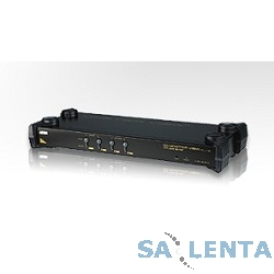 ATEN CS9134Q9(-AT-G/-B) KVM Переключатель электронный 4-х портовый,1 user PS2+VGA => 4 cpu PS2+VGA, без шнуров, 1920×1440, 1U 19″, ( нужны шнуры серии 2L-10.. ), OSD, каскад 64