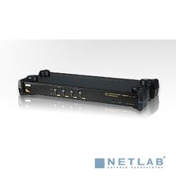 ATEN CS9134Q9(-AT-G/-B) KVM Переключатель электронный 4-х портовый,1 user PS2+VGA => 4 cpu PS2+VGA, без шнуров, 1920x1440, 1U 19'', ( нужны шнуры серии 2L-10.. ), OSD, каскад 64