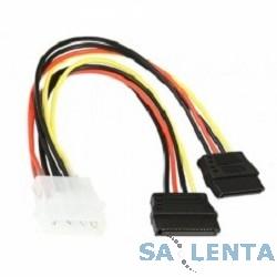 "5bites Переходник питания SATA2-15P015S 5.25""-2xSATA 0.15м."