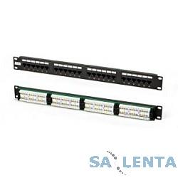 Hyperline PPHD-19-24-8P8C-C5E-110D Патч-панель высокой плотности 19″, 0.5U, 24 порта RJ-45, категория 5E, Dual IDC