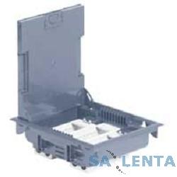 Legrand 89605 Напольная коробка 12 модулей с регулируемой глубиной 75-105 мм,