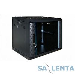 Hyperline TWFS-1866-SR-RAL9004 Шкаф настенный 19-дюймовый (19″), 18U, 908х600х600 мм, металлическая передняя дверь с замком, две боковые панели, цвет черный (RAL 9004) (2 коробки разобранный)