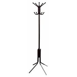 Бюрократ CR-002/<wbr>BROWN вешалка напольная, основание ножки наконечники черный крючки двойные , коричневый