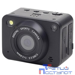 Экшн-камера Gembird ACAM-001, 5MP, 1920 x 1080 FHD (30 fps), ночная съемка, лазерный целеуказатель ЖК дисплей 1.5', TF/Micro SDHC, USB 2.0, HDMI, подводный бокс + крепления.