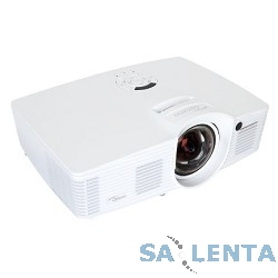 Optoma EH200ST Проектор {Full 3D) DLP, Full HD (1920×1080), FULL 3D, 3000 ANSI Lm, 20000:1;16:9; (0.49:1 — фикс.); HDMI v1.4 x2+MHL v1.2; Audio Out 3.5mm;12V Trigger;3D-Sync}