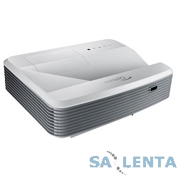 Optoma X320UST Проектор {(FULL 3D), DLP, XGA (1024*768), 4000 ANSI Lm, 20000:1,TR 0,33:1; HDMI x2, 15-pin D-sub x2, композит, аудиовход- Jack x2, USB (B);VGA OUT, Audio OUT- MiniJack}