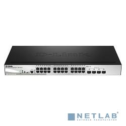 D-Link DGS-1510-28LP/ME/A1A PROJ Управляемый коммутатор 2 уровня с 24 портами 10/100/1000Base-T с поддержкой РоЕ и 4 портами 1000Base-X SFP