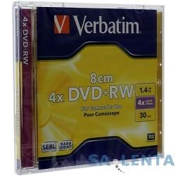 Verbatim DVD+RW 4x, 1.4GB, 8см Mini DVD,1 шт. в уп-ке  [43564]