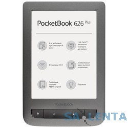 Электронная книга PocketBook 626 PLUS {6″ E-ink HD Carta Touch Screen 1Ghz 256Mb/4Gb/microSDHC} серый»[PB626(2)-Y-RU]