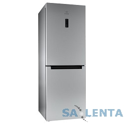 INDESIT/ 167x60x64, 181/75 л, (DF 5160 S) No Frost, дисплей, нижняя морозильная камера, серебристый