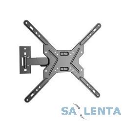 Wize WP47 для 26″-55″ LED телевизоров, VESA 400×400, угол наклона +5/-10°, поворот +/- 10°, расстояние от стены 6-27 см, до 21 кг, черн.