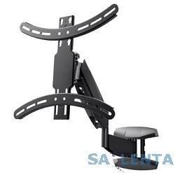 Wize WGS55 с пневматическим пружинным механизмом для 42″-55″ LED телевизоров, VESA 400×400, угол наклона +5/-10°, поворот +/- 5°, расстояние от стены 6-56 см, до 21 кг, черн., розн.