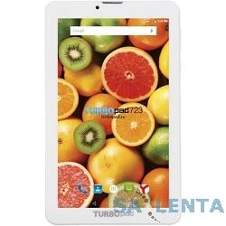 Планшетный компьютер «TurboPad 723» белый 3G {7″1024×600,8Гб,microSDHC,Wi-Fi,Bluetooth,3G,две камеры,Android 5.1}