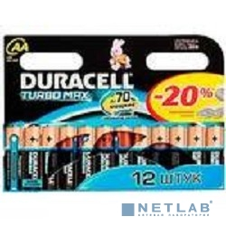 DURACELL LR6-12BL TURBO(MAX) NEW (12 шт. в уп-ке)