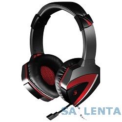 A4 G501, черно-красные  {Наушники с микрофоном, 2.2м}