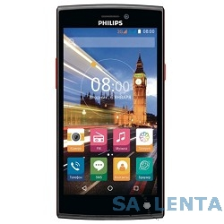 """Philips S337 Black+Red {5"""" ,854 x 480,5.0 MP,8Gb,Android 5.1, 2 sim}"""