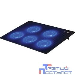 """CROWN  Подставка для ноутбука CMLC-1105 black ( 15,6"""", 5 куллеров, подстветка, регулировка скорости вращения, размеры (Д*Ш*В) 345* 245*20мм)"""