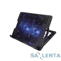 CROWN  Подставка для ноутбука CMLS-940 (Black) 15,6″, 2*Fan,blue light,2*USB