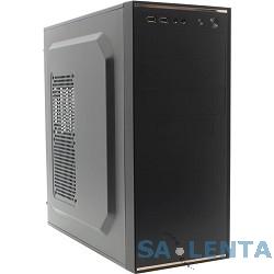Miditower FOX< 5902-BK >Корпус 5902 FOX , Цвет &#8212; Черный,  2xUSB+ Аудио, Блок питания  450W -24pin/12V4pin/12cm fan/3xSATA/2x4pin/no FDD/1xPCI-e 6pin /Черное шасси/Силовой кабель с евро розеткой(450W)